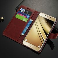 card holder cover case for Samsung Galaxy C7 SM-C7000 leather phone case wallet Case flip cover for Galaxy C7 Quality Holster
