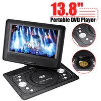 """CLAITE 9Pcs/set 13.8"""" mini Portable DVD Player CD Digital Multimedia Swivel USB SD"""