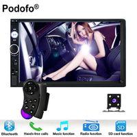 "Podofo Autoradio 2 Din In Dash Car Radio 7"" Touch Screen Digital Player MP5 Bluetooth"