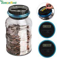 LemonBest 1.8L Piggy Bank Counter Electronic Digital Jar