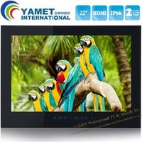 YAWATER 22 inch Free Shipping White or Black HDMI HD IP66 Bathroom TV Waterproof