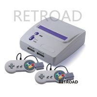 RETROAD 16-bit Entertainment System TV/Video console two controllers Play both North