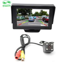 """GreenYi 2In1 Car Parking System Kit 4.3"""" TFT LCD Color Rearview Display Monitor"""
