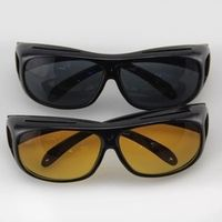 2Pcs Night Vision Wraparounds Wrap Around Glasses HD Day Night Visor For Your Car