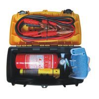 Automotive Emergency Kit Vehicle Rescue Package Battery Line Tow Rope Dry powder fire extinguisher flash light KODOOT 330