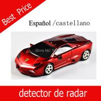 Whole sale voice alerting anti radar detector Spanish castellano Black Red available