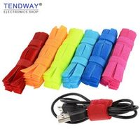 Tendway 50pcs/10pcs Colored Organizer Cable winder Charger Cable Holder Cord