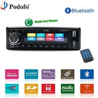 "Podofo 4"" Autoradio Car Radio 12V Bluetooth Car Stereo In-dash 1 Din USB/AUX/FM/AM"