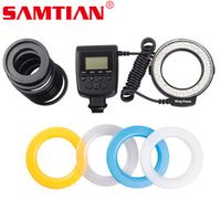 SAMTIAN RF-550E Macro 48 pcs LED Ring Flash Light 3000k-15000k For Sony A900 A850