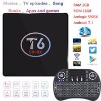 MEVR T6 Android 7.1 2 GB RAM 16 GB ROM Amlogic S905X KODI 17.1 Smart TV Box 4 K