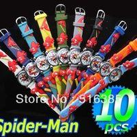 140pcs/lot Cartoon 3D Children Watch kids watch spider Man