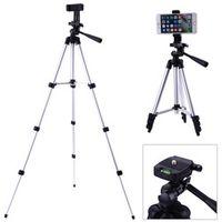 "alloet Professional Foldable Camera Stand 1/4"" Screw 360 Degree Fluid Tripod Aluminum"