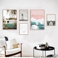 qunexc Nordic Posters And Prints Landscape Canvas Painting