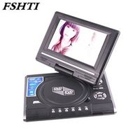 FSHTI 7.8 Inch Portable DVD Player Digital Multimedia U Drive Play with FM TV Game
