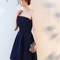 Beauty-Emily Navy Cocktail Dresses 2017 Sexy A-Line