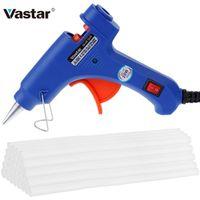 Vastar Hot Melt Glue Gun with 30pc 7mm*200mm Glue Stick Industrial Mini Thermo