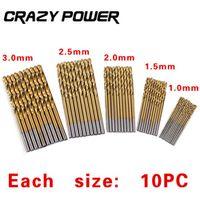 Crazy Power 50Pcs/Set Twist Drill Bit Metal Set 1/1.5/2/2.5/3mm Drill Bits High Carbon Steel Wood Drills Power Tool