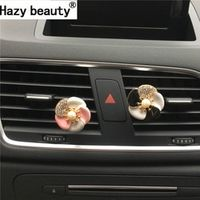 Hazy beauty metal flowers perfume Air conditioner air outlet decoration Air freshener