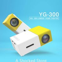 COOLUX YG300 Yellow Mini LCD 400-600 Lumens 320*240 Pixels HD Video 3.5mm Audio
