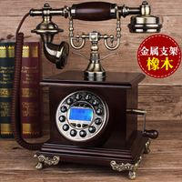 Fashion style antique telephone american vintage household oak corded phone/ Redial/Hands-free/ backlit Caller ID
