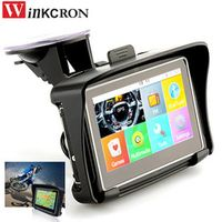 winkcron 4.3 inch Motorcycle GPS Navigation Car Moto Bicycle IPX7 Waterproof 8G