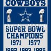 Dallas Cowboys Champions Flag 3ft x 5ft Polyester  90X150cm 2 metal grommets banner 40086
