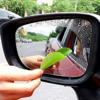HEONYIRRY 2PCS Car Rearview Mirror Anti Fog Window Clear Rainproof Rear View