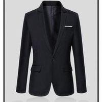 Casual Style Black Blazer Slim Fit Groom Suit Jacket Mens Wedding Prom Dinner Jackets americana hombre brand-clothing Custom Mad