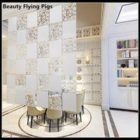 divider Biombo Room Home Decoration Partitions 4pcs/lot PVC