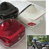 New Motorcycle Trunk Luggage Case Tail Box Backrest For Honda Rebel CMX 250 CA125 250 450 Gold Wing  GL1500 GL1800 SHADOW ACE