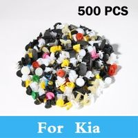 500pcs Mixed Auto Car Bumper Clips Retainer Rivet For Kia Morning Cadenza Cee'D Magentis Mohave (Borrego) Gt Cerato Forte K3 K5