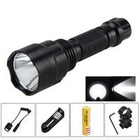 VASTFIRE Black 2500lm XML T6 LED Flashlight Torch 25 MM Hunting Rifle Mount Remote