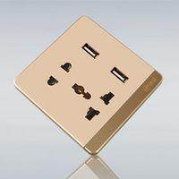 2016 Dual USB Charging Wall US/EU/AU Plug Charger Dock Station Socket Power Outlet