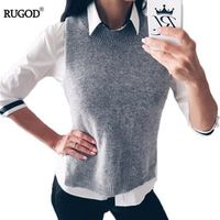 Rugod 2018 Autumn Winter Jacket Women Warm Wool Plus Size