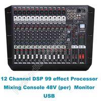 MICWL Pro 12 Channel Dual Group DJ Karaoke Audio Sound Microphone Mixing Console Desk
