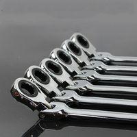 Kitbakechen 8-19mm Activities Ratchet Gears Wrench Set Flexible Open End Repair Tools