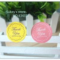 "shinysun 240pcs/lot 2colors ""thank you"" sealing sticker"