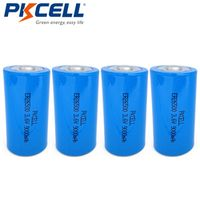 Pkcell 4Pcs/lot*PKCELL 3.6V ER26500 Lithium Battery 9000Mah C size High Energy