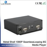 Lanmade Seamless Looping Auto Turn ON / OFF MP3 WMA NAND FLASH Digital Signage Player