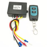 YIXINYOU Winch 50ft 15m DC12V Wireless Remote Control Kit for Jeep Truck ATV