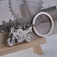 EACHGO New Motorcycle Key Ring Chain Motor Bike Silver Keychain Cute Lover Gift