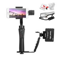 Zhiyun Smooth Q 3-Axis Handheld Gimbal Portable Stabilizer Wireless Control for iPhone 7 6S Plus S8 S7 + Aputure M9 + L Bracket