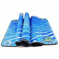 SS Mat Blue Wave 89.5cm x 33cm Speed Cube Pad for Puzzle
