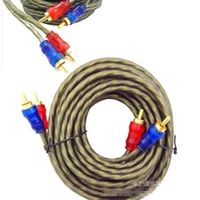 Audio Video Cable Male to Male for CD connect  amplifier Subwoofer Tube machine   Cable amplifier subwoofer