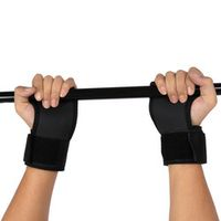 Black Anti Skid Weight lifting gloves gym Weightlifting Wristbands Fitness Exercise training Half Finger Gym Gloves 2pcs /pair