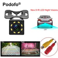 Podofo 8 LED Night Visions Car Rear View Camera Wide Angle HD Color Image Waterproof