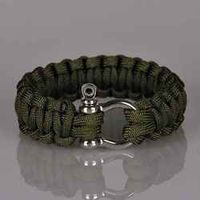 Outdoor Camping Rescue Paracord Bracelets Parachute Cord Wristbands Men Bracelet Emergency Rope Survival Buckle Braided Pulseras