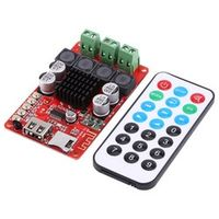 New Card Decoder Audio Amplifier Board 50W+50W Portable Bluetooth Audio Receiver Amplifier TF Card Decoder with Remote Control