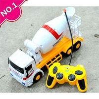 Steering wheel car,Large cement truck mixer,Electric Construction vehicles toy, 4-channel wireless remote control, free shipping
