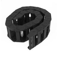 Machine Tool 25 x 77mm Black Cable Wire Carrier Drag Chain Nested